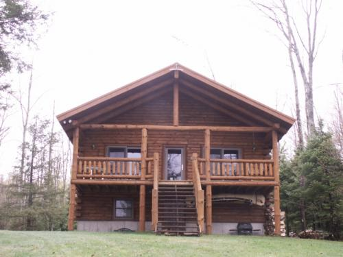 SOLD: Waterfront Log Home